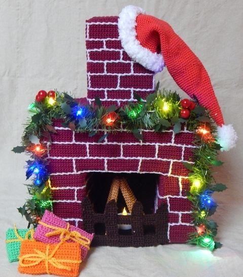 Häkelanleitung Weihnachtlicher Kamin - Häkelanleitungen bei Makerist sofort runterladen