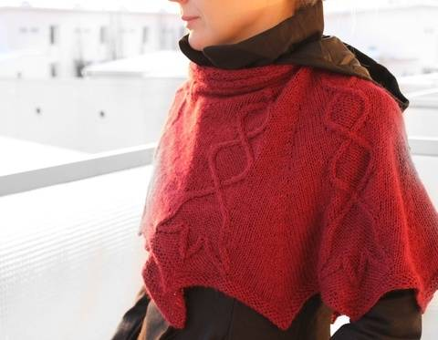 Download Lily of The Valley - Cabled shawl knitting pattern tutorial immediately at Makerist