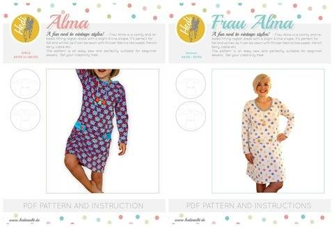"Download Set: ""Frau Alma"" and ""Alma"" for kids and women.  immediately at Makerist"