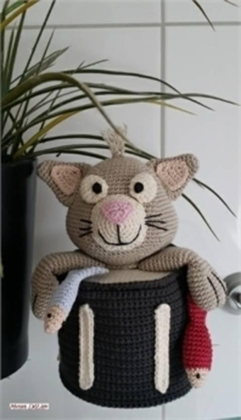 Häkelanleitung Toilettenpapierhut - Kitty the Cat bei Makerist sofort runterladen