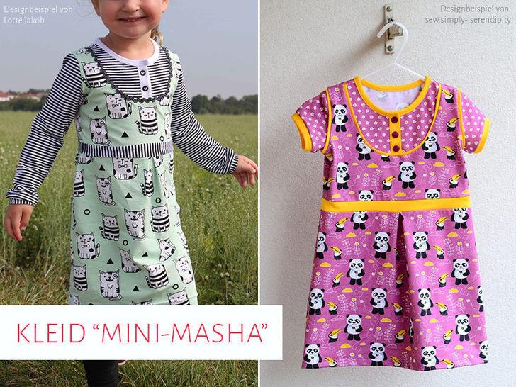 "Kinderkleid ""Mini-Masha"" Gr. 92 - 164 - Nähanleitungen bei Makerist sofort runterladen"