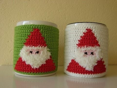 Download Mug cozy Santa - crochet pattern - Crochet Patterns immediately at Makerist