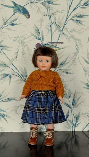 """Télécharger """"Buissonnière"""" Patron pour poupée de 40 cm type Marie-Françoise de Petitcollin - Modèles de tricot tout de suite sur Makerist"""