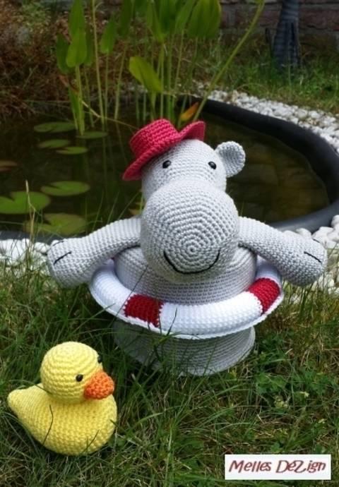 Häkelanleitung Toilettenpapierhut - Hilde the Hippo bei Makerist sofort runterladen
