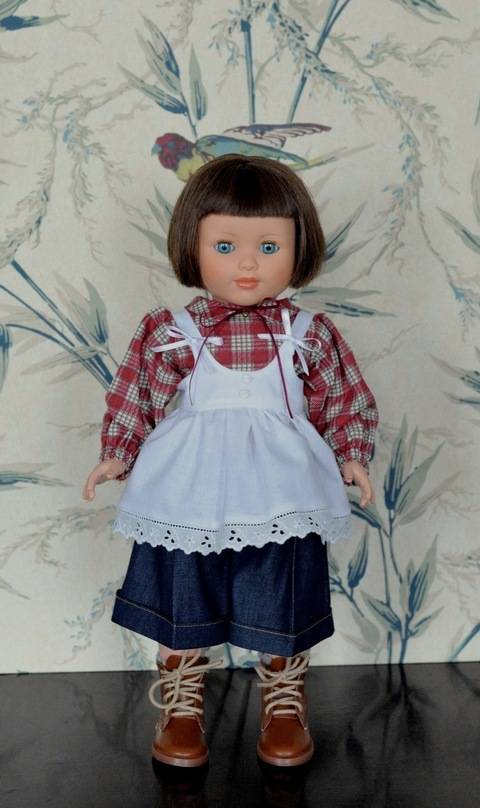 """Télécharger """"Sweat home"""" Patron pour poupée de 40 cm type Marie-Françoise de Petitcollin tout de suite sur Makerist"""