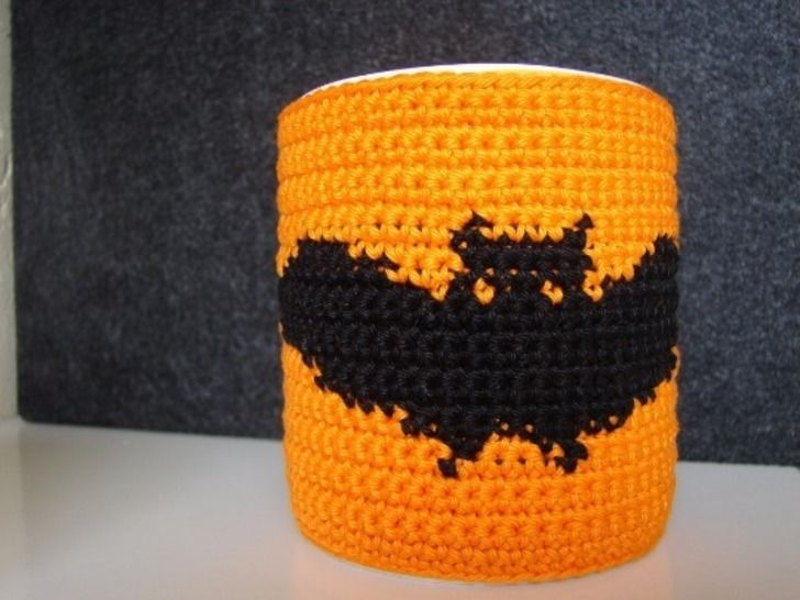 Download Mug cozy Halloween bat - crochet pattern - Crochet Patterns immediately at Makerist