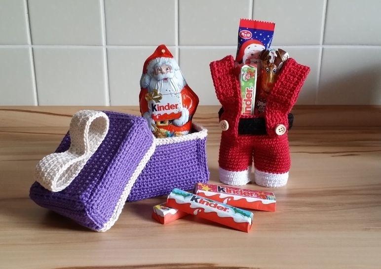 Häkelanleitung Nikolaushose und Geschenkverpackung bei Makerist - Bild 1