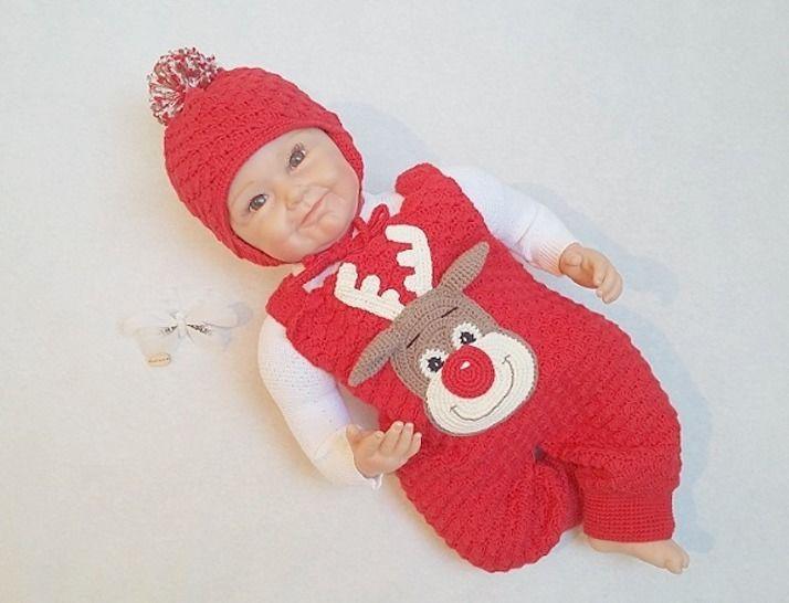 Häkelanleitung Babyset Rudi Frost Gr. 50-80 - Häkelanleitungen bei Makerist sofort runterladen