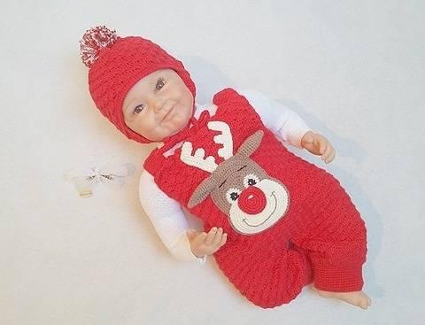 Häkelanleitung Babyset Rudi Frost Gr. 50-80 bei Makerist sofort runterladen