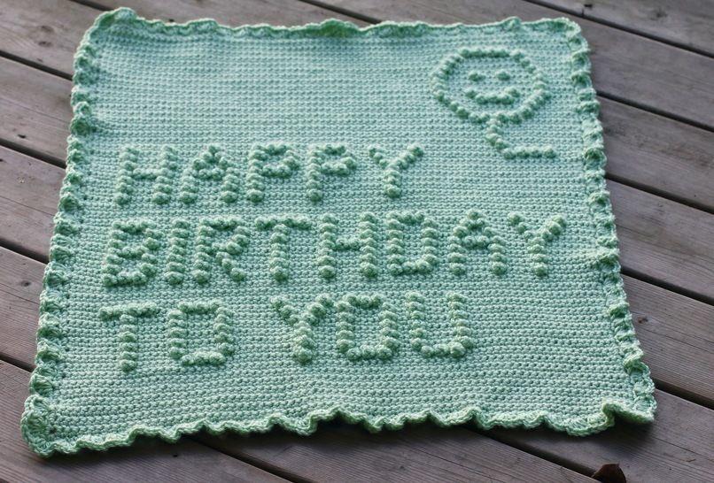 Download Happy Birthday To You Baby Blanket - Crochet Patterns immediately at Makerist
