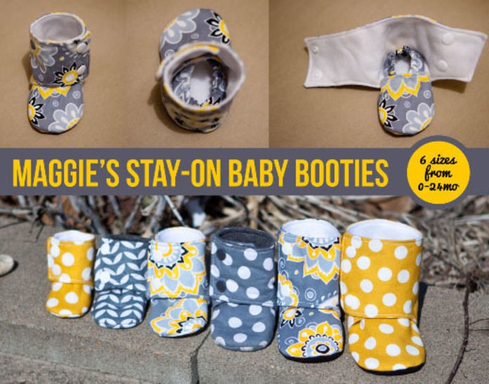 Download Maggie's Stay-On Baby Booties Sewing Pattern - Sewing Patterns immediately at Makerist