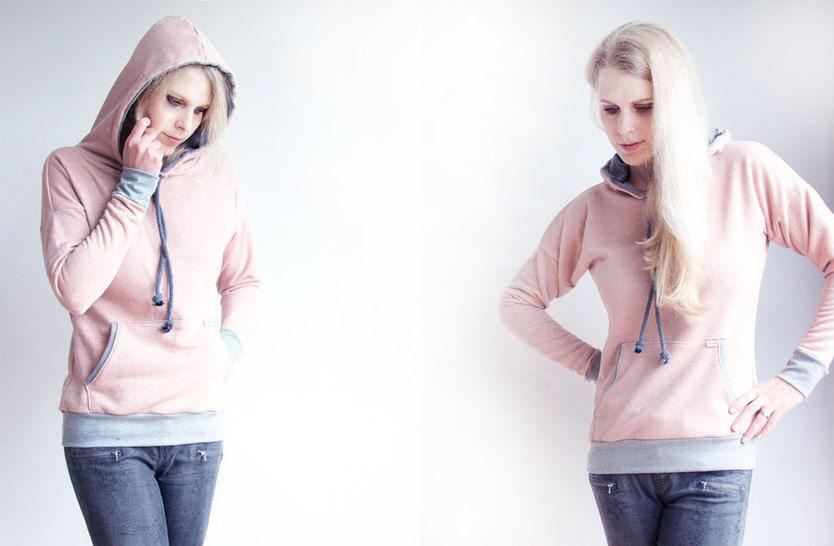 Winter-Sally - Hoodie für Damen eBook / Schnittmuster - Nähanleitungen bei Makerist sofort runterladen
