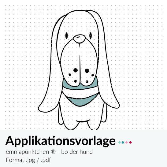 emmapünktchen ® - applikationsvorlage bo, der hund - Nähanleitungen bei Makerist sofort runterladen