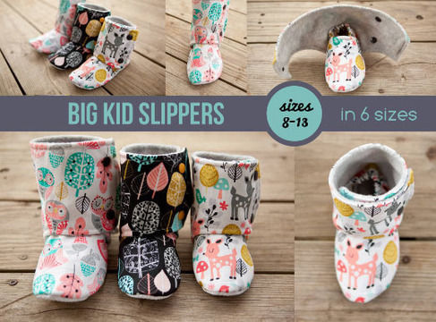 Download Big Kid Slipper Pattern - Maggie's Booties - Sewing Patterns immediately at Makerist