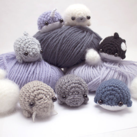 Download seven sea creatures - amigurumi crochet pattern collection - Crochet Patterns immediately at Makerist