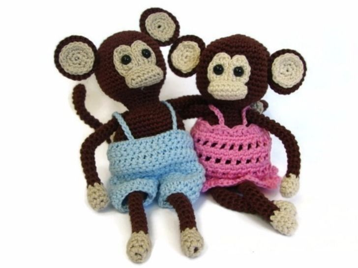 Download Monkey with dress and pants - crochet pattern - Crochet Patterns immediately at Makerist