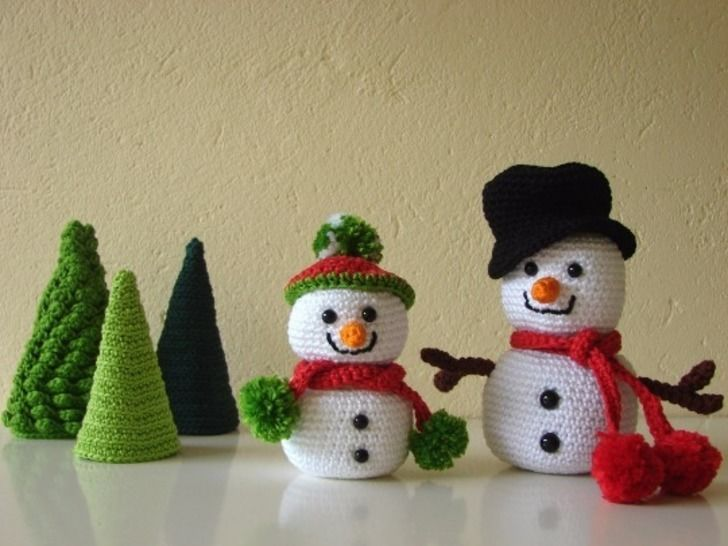Download Snowmen and trees - crochet pattern - Crochet Patterns immediately at Makerist