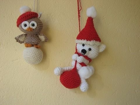 Download Polar bear and owl amigurumi - crochet pattern - Crochet Patterns immediately at Makerist