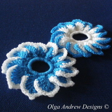 Download Flat Dahlia scrunchie crochet pattern 032 - Crochet Patterns immediately at Makerist