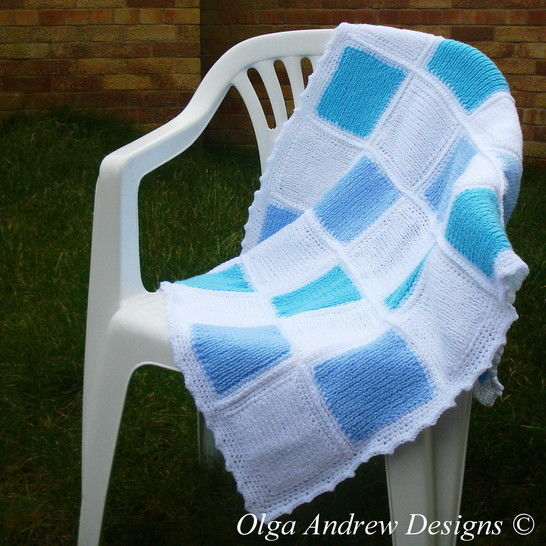 Download Patchwork baby blanket knit/crochet pattern 042 - Knitting Patterns immediately at Makerist