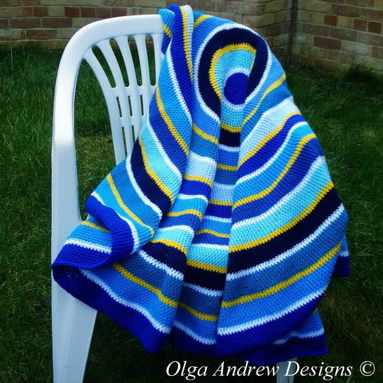 Download Round blanket/shawl/wrap crochet pattern 046 - Crochet Patterns immediately at Makerist