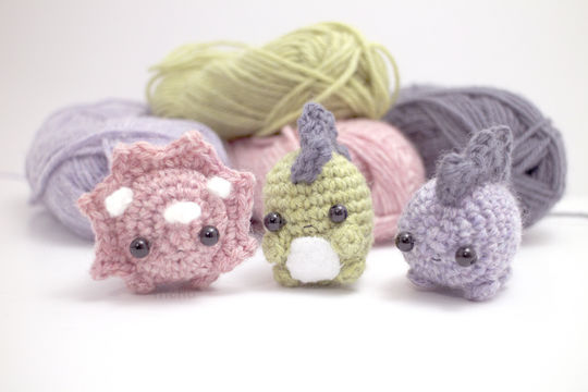 Download Amigurumi dinosaurs - crochet pattern set - Crochet Patterns immediately at Makerist