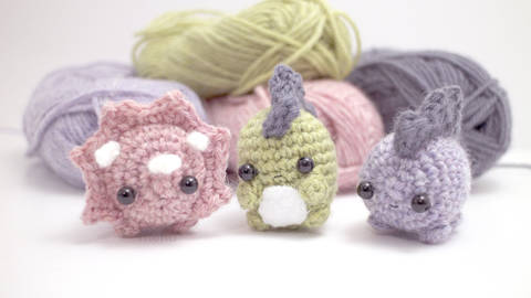 Amigurumi World Free Download : Crochet mike the monster from monsters university shiny happy world