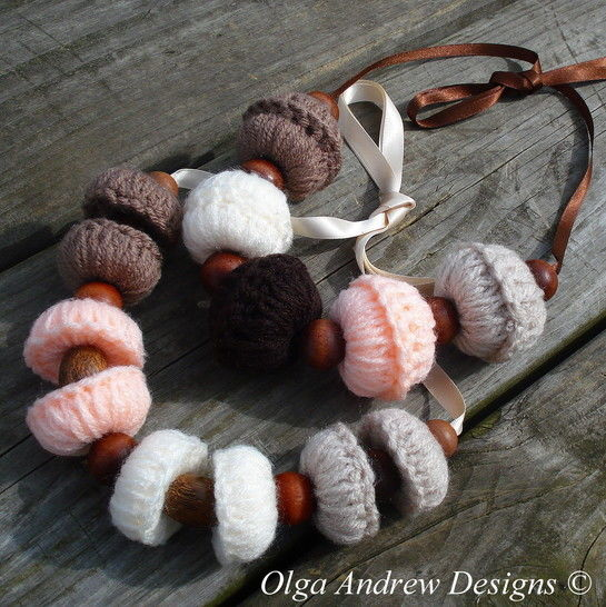 Download Large beads and beaded boho necklace crochet pattern066 - Crochet Patterns immediately at Makerist