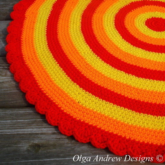 Download Sunny round rug crochet pattern 049 - Crochet Patterns immediately at Makerist
