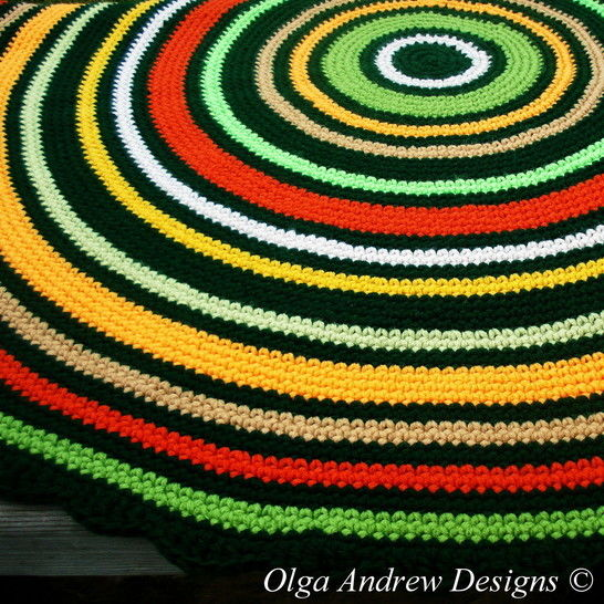 Download Autumn Forest round rug crochet pattern 057 - Crochet Patterns immediately at Makerist