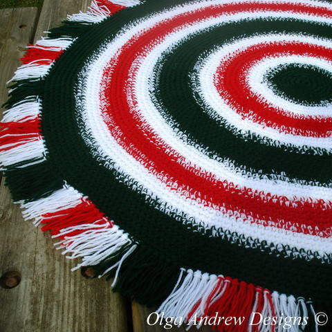 Download Christmas rug crochet pattern 058 immediately at Makerist
