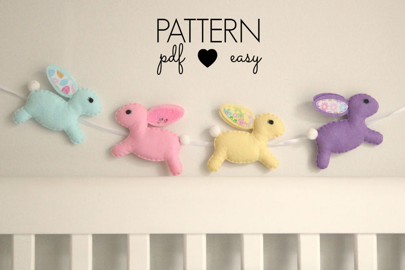 Download Bunny Rabbit Felt Sewing Pattern - Sewing Patterns immediately at Makerist
