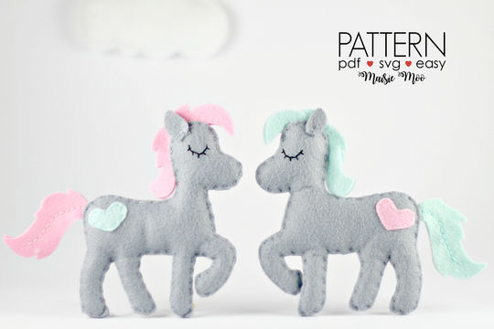 Download Felt Horse Pony Sewing Pattern - Sewing Patterns immediately at Makerist