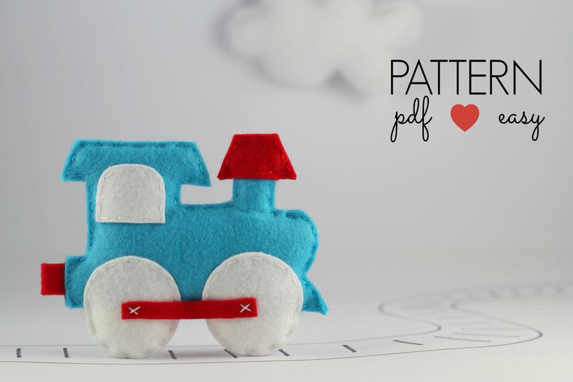 Download Felt Train Transportation Locomotive Sewing Pattern - Sewing Patterns immediately at Makerist