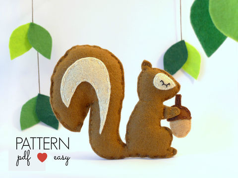 Download Felt Squirell Sewing Pattern - Sewing Patterns immediately at Makerist