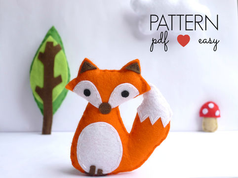 Download Felt Fox Sewing Pattern - Sewing Patterns immediately at Makerist