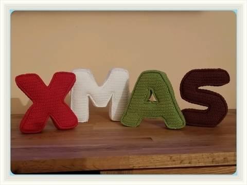 Häkelanleitung 3D Buchstaben XMAS bei Makerist sofort runterladen