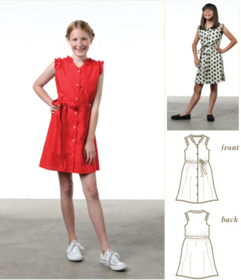 Download Annie Ruffle Dress Pdf Sewing Pattern for Girls - Sewing Patterns immediately at Makerist