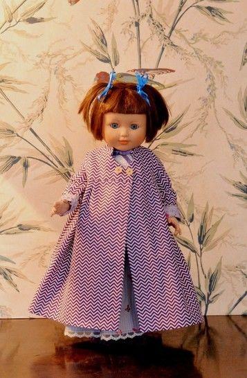 """Télécharger """"Douce nuit"""" Patron 3 pièces pour poupée de 40 cm à 48 cm, Marie-Françoise et Finouche de Petitcollin, et Zwergnase Junior - Patrons de couture tout de suite sur Makerist"""