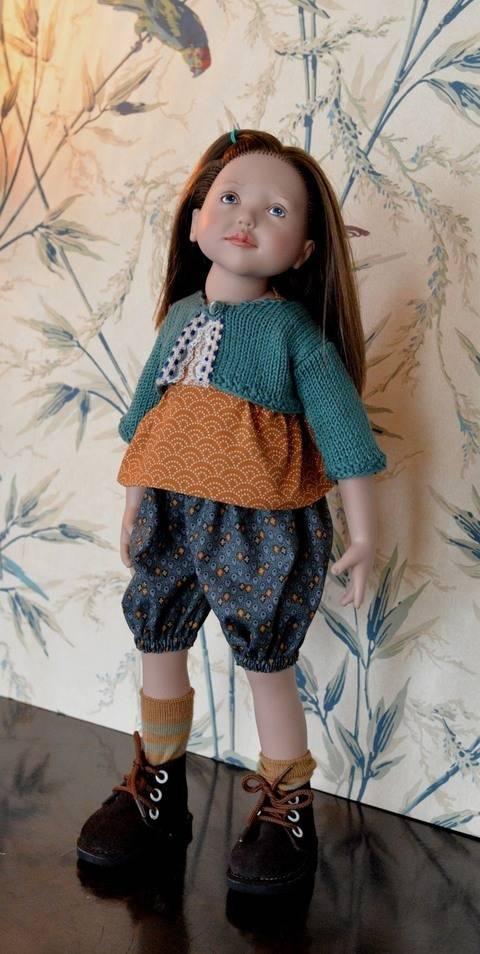 """Télécharger """"Culottée"""" Patron 3 pièces pour poupée de 40 cm à 48 cm, type Marie-Françoise, Finouche de Petitcollin, et Zwergnase Junior tout de suite sur Makerist"""