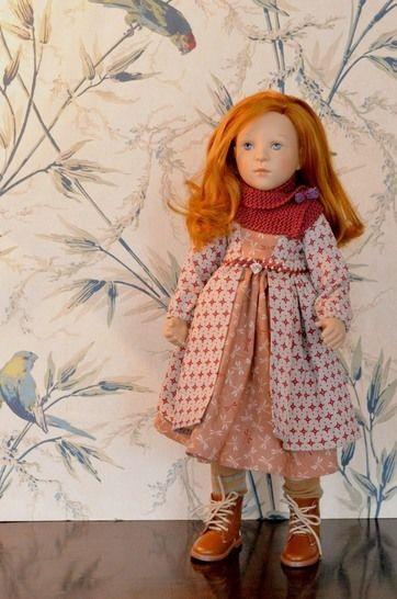 """Télécharger """"Marquise"""" patron 2 pièces pour poupée de 40 cm à 48 cm, type Marie-Françoise et Finouche de Petitcollin,Zwergnase Junior - Patrons de couture tout de suite sur Makerist"""