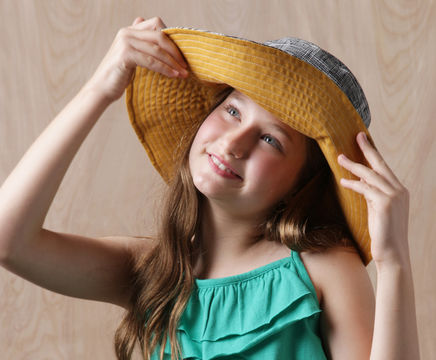 Download Phoebe Sun Hat Pdf Sewing Pattern for Kids Teens and Adults - Sewing Patterns immediately at Makerist