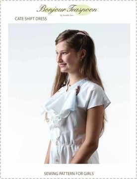 Download Cate Shift Dress Pdf Sewing Pattern for Girls - Sewing Patterns immediately at Makerist