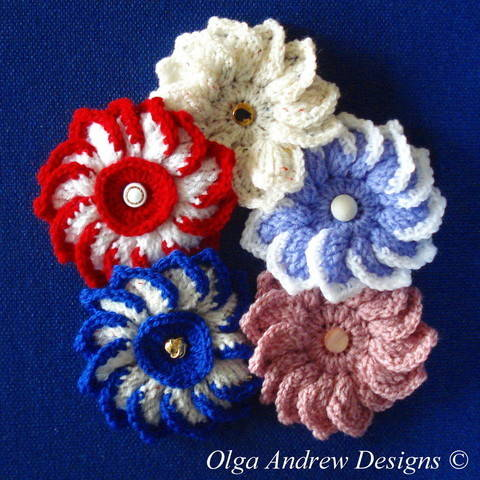 Download Dahlia flower crochet pattern 020 immediately at Makerist