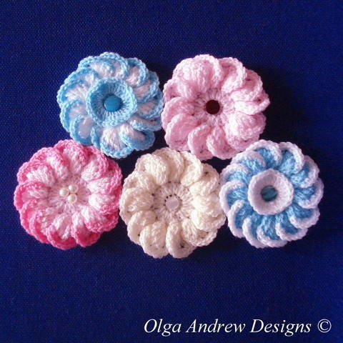 Download Camomile/daisy flower crochet pattern 021 immediately at Makerist