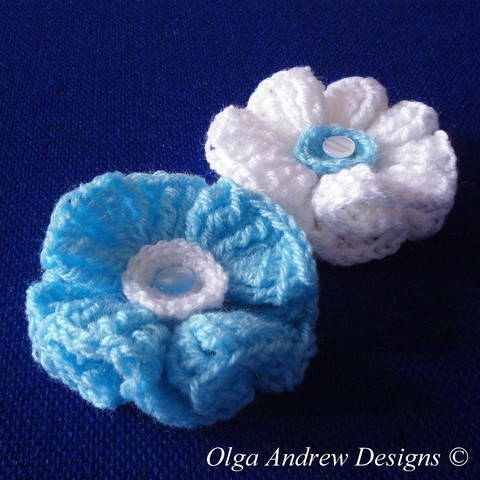 Download Wavy flower crochet pattern 010 immediately at Makerist