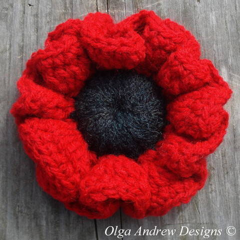 Download Poppy flower crochet pattern 024 immediately at Makerist
