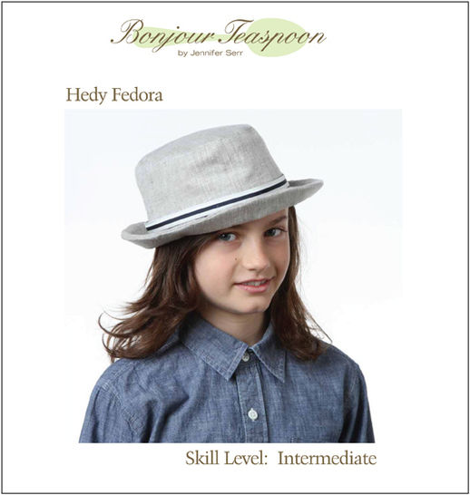 b2aee6772c3 Download Hedy Fedora Woven Unisex Hat Pdf Sewing Pattern for Kids