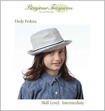 Download Hedy Fedora Woven Unisex Hat Pdf Sewing Pattern for Kids, Teens and Adults - Sewing Patterns immediately at Makerist