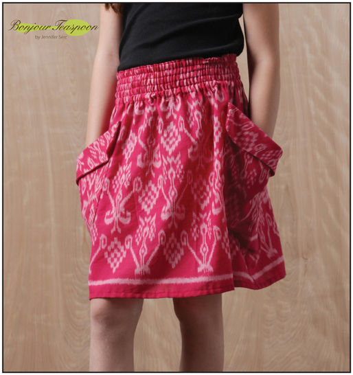 Download Chloe Woven Skirt pdf Sewing Pattern for Girls - Sewing Patterns immediately at Makerist